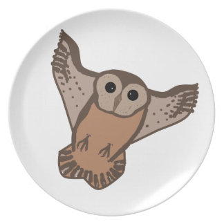 Flying Owl plates and matching mugs