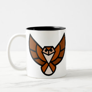 Flying Owl Two-Tone Coffee Mug