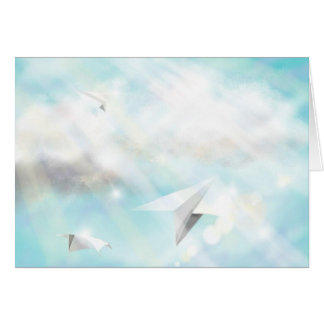 Flying Paper Planes Card