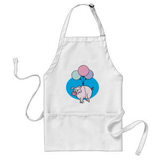 Flying Party Pig Adult Apron