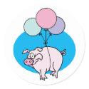 Pig Party Envelope Seals