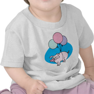 Flying Party Pig T-shirt