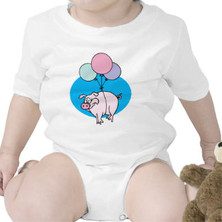 Flying Party Pig T-shirts