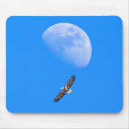 Flying Past the Moon Mouse Pad