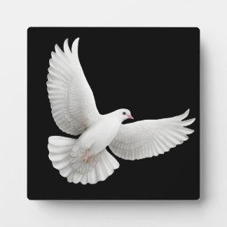 Flying Peace Dove Customizable Plaque