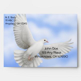 Flying Peace Dove Envelope