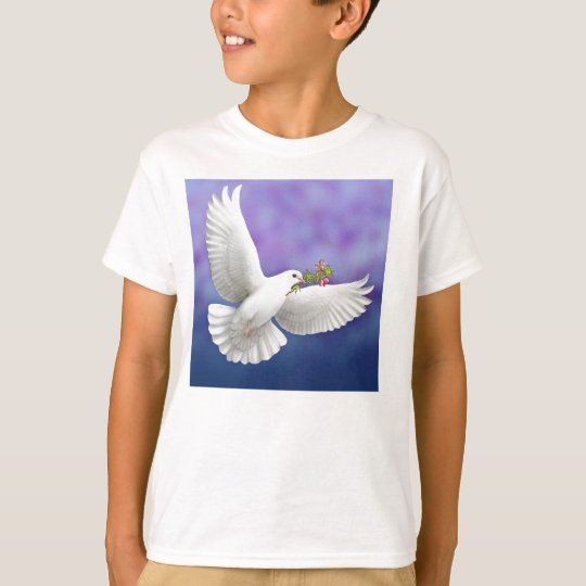Flying Peace Dove Kids T-Shirt