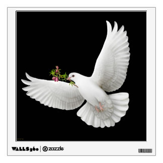 Flying Peace Dove with Olive Branch Wall Decal
