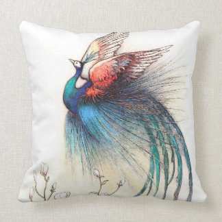 Flying Peacock Pillow