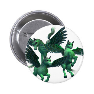 Flying Pegasus Button
