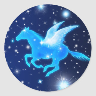 Flying Pegasus Classic Round Sticker