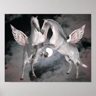 Flying Pegasus Fantasy Horse Poster