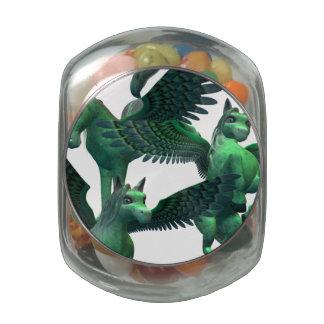 Flying Pegasus Glass Jars