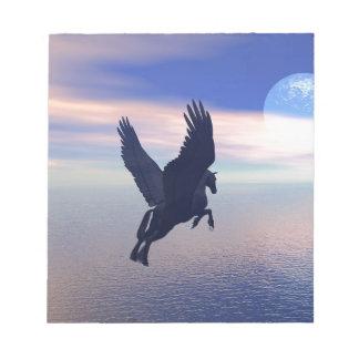 Flying Pegasus in Blue Sky Notepad