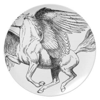 flying Pegasus Melamine Plate