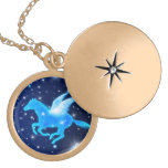 Flying Pegasus Personalized Necklace