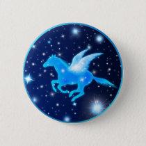 Flying Pegasus Pinback Button