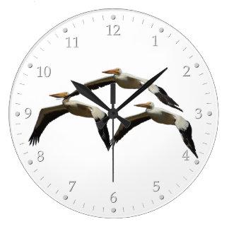 Flying Pelican 2 Large Clock