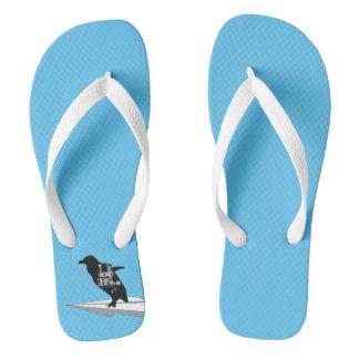 Flying Penguin Flip flops