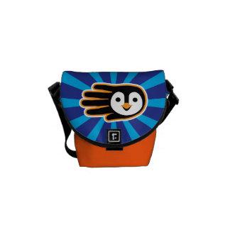 Flying Penguin Hand Courier Bag