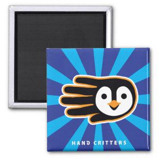 Flying Penguin Hand Fridge Magnet