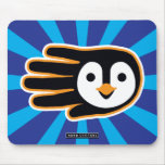 Hand shaped Flying Penguin Hand Mouse Pad