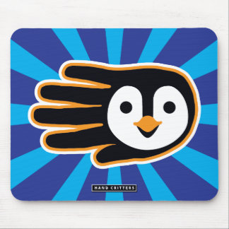 Flying Penguin Hand Mouse Pad