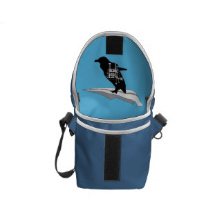 Flying Penguin Mini Messenger Bag Inside Print