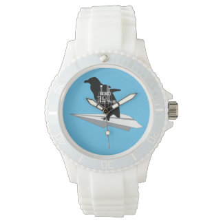 Flying Penguin White Sporty Watch