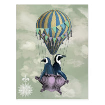 Flying Penguins 2 Postcard