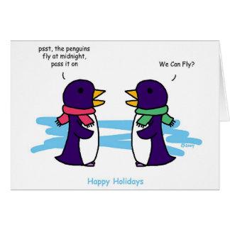 Flying Penguins Card