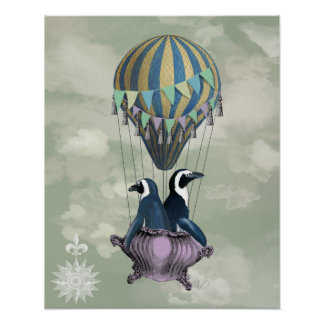 Flying Penguins Poster
