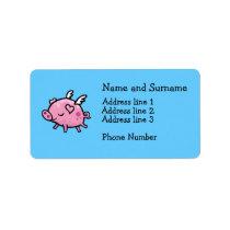 Flying pig address label