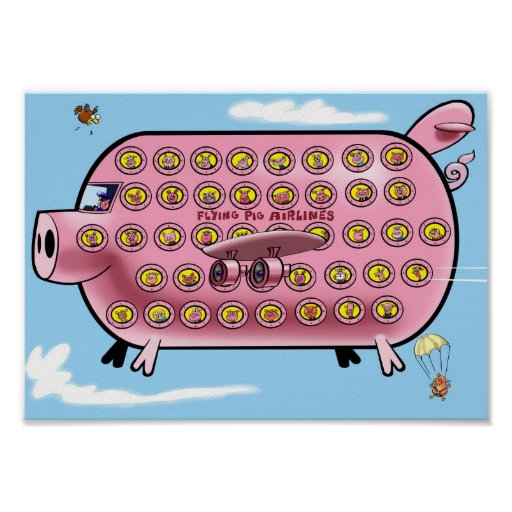 Flying Pig Airlines Poster