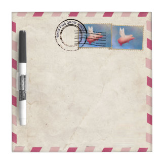 Flying Pig Airmail Dry Erase Board