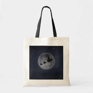Flying Pig and Piglets across full moon Tote Bag