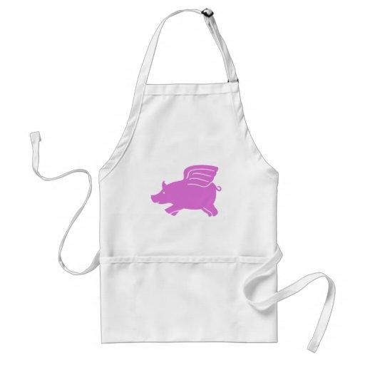 Flying Pig Apron -  Pink