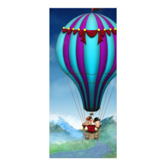 Flying Pig - Balloon - Up up and Away Rack Card