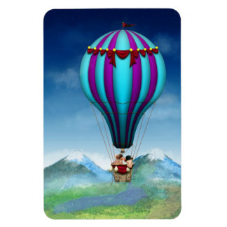 Flying Pig - Balloon - Up up and Away Rectangular Photo Magnet