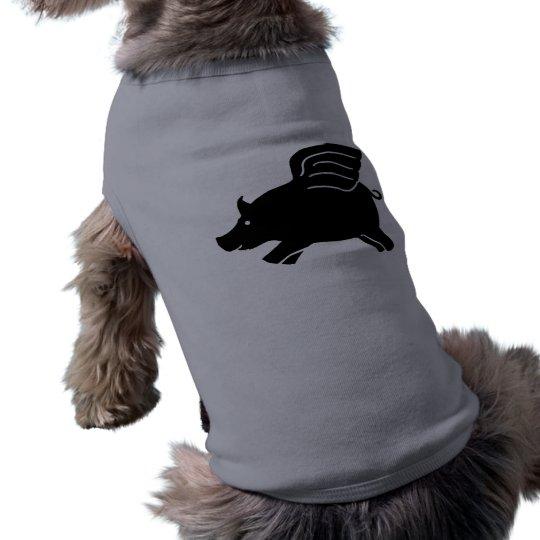 Flying Pig - Black Shirt