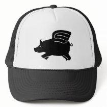 Flying Pig - Black Trucker Hat