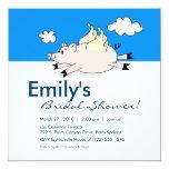 Flying Pig Bridal Shower Invitation