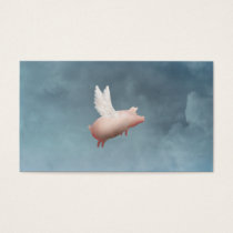 flying pig business card