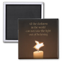 Flying Pig Candle Flame Magnet