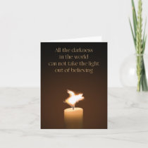 Flying Pig Candle Flame Note Card