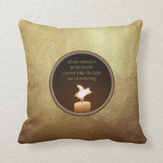 flying pig candle flame pillow