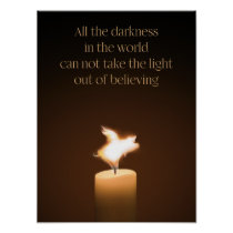 Flying Pig Candle Flame Poster