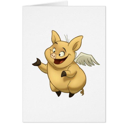 Flying Pig Card