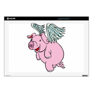 Flying Pig Cartoon Character Laptop Skins