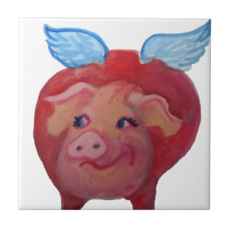flying pig ceramic tile